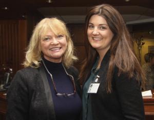 RTE RnaG presenter Áine Ní Chuirreáin with Loretta Ní Ghabháin, Social Media Expert, from LORG Media at our Selling Our Story conference.